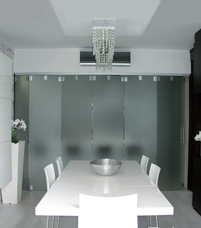 Nuova cristalvetri vetreria a barletta dal 1960 pareti - Porte in vetro a libro ...