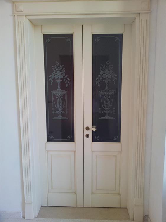 Nuova cristalvetri vetreria a barletta dal 1960 vetri decorati classici - Vetri decorati per porte interne classiche ...