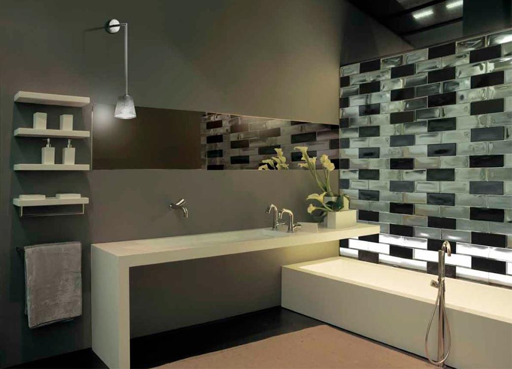 Vetrocemento design idee creative di interni e mobili - Mattoni vetrocemento per doccia ...